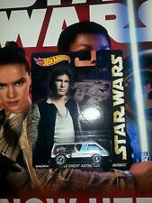 Rare ERROR Star Wars 2015 Hot Wheels Pop Culture Leia Car Han Card VERY  RARE