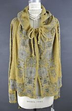 NWT Johnny WAS Jacket SALE M Cotton Short Hood short Hooded Bolero Gold Mustard