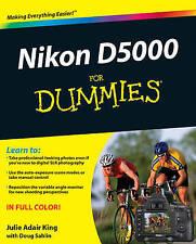 Nikon D5000 For Dummies by Julie Adair King (Paperback, 2009)