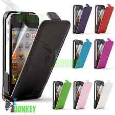 CUSTODIA CASE FLIP COVER PER APPLE IPHONE 4 4S PELLE LIBRO MAGNETICA + PELLICOLA