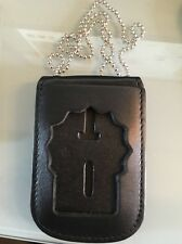 Detective Badge  And I D Holder/ Neck Hanger With Beaded Chain.
