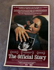 Official Story 1985 Norma Aleandro Argentina Dirty War MCA Video Poster EX C8