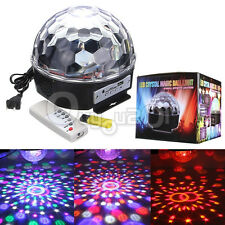 12W MP3 RGB LED Crystal Magic Ball Stage Light Digital Disco DJ KTV Effect Party