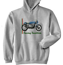 MOTO GUZZI CAFE RACER 2 - GREY HOODIE - ALL SIZES IN STOCK