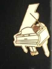 Vintage Mini White Grand Piano Pin Brooch Badge Music Gift AIM45B Rare Piece
