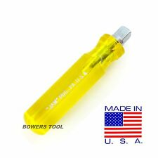 """Jawco 3/8"""" Drive Stubby Spinner Handle Socket Nut Driver MADE IN USA H8"""