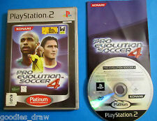Pro Evolution Soccer 4 (Platinum) Sony PlayStation 2 PS2 PAL Game *FREE POST*