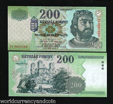 HUNGARY 200 FORINT P187 2007 EURO CASTLE RUINS UNC NOTE