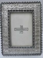 "New Ganz Ornate Resin Metal Look Desk Frame for a 4"" x 6"" photo"