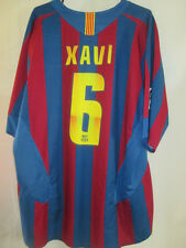 "Barcelona 2005-2006 Home Xavi 6 Football Shirt Size Extra Large 45""-47"" /9438"