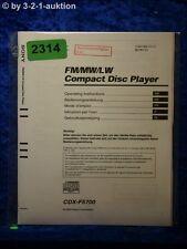 Sony Bedienungsanleitung CDX F5700 CD Player (#2314)