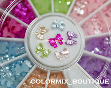 5mm 3color 3D Nail Art Decoration Strass Mini Pearl Ribbon Bow #R20