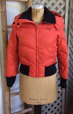 TOMATO-RED Winter DOWN COAT PUMA Snow Ski Jacket Womens S Small