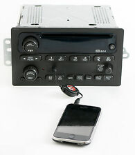 GMC Envoy 2002-2003 Chevy Trailblazer Radio AM FM CD w Aux iPod Input - 15058230