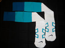 MIAMI DOLPHINS TEAM ISSUED NIKE WHITE/AQUA FOOTBALL GAME SOCKS SIZE LARGE SALE