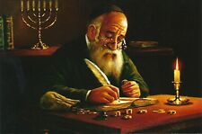PICTURE OF JEWISH MAN COUNTING COINS MONEY FOR LUCK