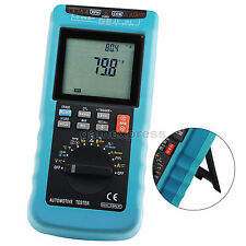 Automotive Multimeter Scan Car Engine Analyzer RPM Voltage Current Dwell Angle