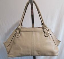 Hype, Large Tan/Light Brown Leather Shoulder/Tote/Satchel Handbag EUC!!!