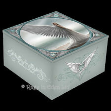 *SPIRIT GUIDE* Goth Fantasy Angel Art Trinket Box With Mirror By Anne Stokes