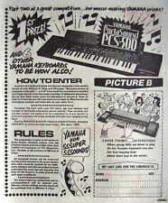 1985 YAMAHA 'PortaSound PCS-500' Keyboard Comp. Print Advert - Vintage Comic Ad