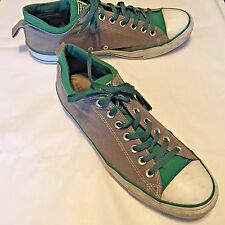 Converse All Star Men's Shoes Gray Green Low Top Lace Up Size 12