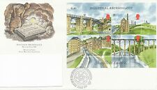 "1989 ""Industrial Archaeology"" Miniature Sheet First Day Cover"