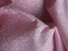 Poly Cotton Pink With Tiny White Flowers by the metre