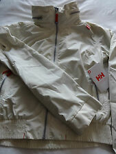 Helly Hansen W capoterra rainwear hooded jacket eggshell size M new + tags.
