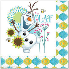 FROZEN FEVER LUNCH NAPKINS (16) ~ Disney Birthday Party Supplies Olaf Large