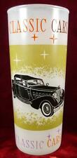 Classic Cars Packard Twelve 1934 Frosted Glass Tumbler Sport Phaeton Decals (O2)