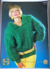 Vintage Sirdar Knitting Pattern No 8114 Lady's Mohair Sweater