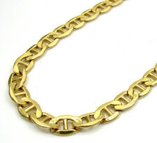 "22"" Inch 4.5mm 9 Grams 10k Yellow Gold Mariner Anchor Hollow Chain Necklace Mens"