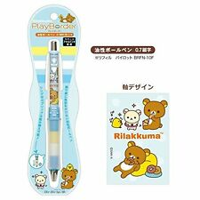 San-X Rilakkuma Dr. Grip Ballpoint Pen (Play Border) Blue PP19901
