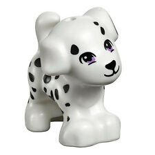 LEGO FRIENDS DALMATIAN WHITE DOG WITH SPOTS Pet Animal Figure Minifig Minifigure