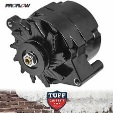 Ford Cleveland V8 302 351 Proflow Black Alternator 140 AMP Internal Regulator