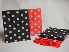 Lot of 12 Black & Red Polka Dot Minnie Mickey Mouse Disney Party Favor Bags
