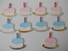 birthday cakes  x10 sizzix toppers / assembled die cuts
