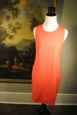 NWT J Crew Tall Sleeveless Shift Dress Stretch Wool 10 Sunset Rose $198 16427