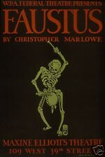"Faustus Christopher Marlowe Maxine Elliot Theater New York 12x8"" Reprint Poster"
