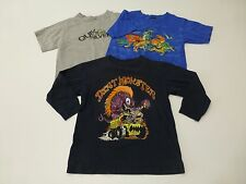 3 Piece Quicksilver Dino Pack Boys 4-6 Shirt Lot Great Condition