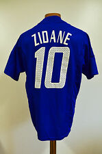 FRANCE 2002 WORLD CUP HOME FOOTBALL SHIRT JERSEY MAGLIA ADIDAS ZIDANE #10