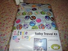NEW NIP Little Lumps  Baby Travel kit changing mat bottle carrier case suckers