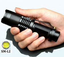 Zoomable 3000lumens CREE XM-L2 LED 18650 Flashlight Torch Lamp Lights Waterproof