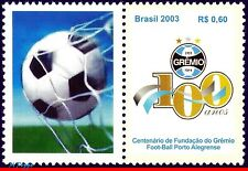 2895A BRAZIL 2003 CENTENARY GREMIO, FOOTBALL/SOCCER, FAMOUS CLUBS, PERSONAL. MNH