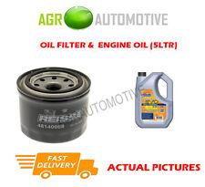 PETROL OIL FILTER + LL 5W30 ENGINE OIL FOR SUZUKI SWIFT 1.2 94 BHP 2010-