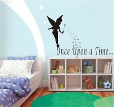 Once Upon A Time Vinyl Fairy Wall art sticker quote for girls bedrooms decal