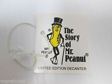 PLANTERS PEANUTS THE STORY OF MR PEANUT 75TH ANNIVERSARY HANG TAG ADVERTISING