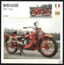 1928 Moto Guzzi 500GT Norge 500cc (498cc) Motorcycle Photo Spec Sheet Info Card