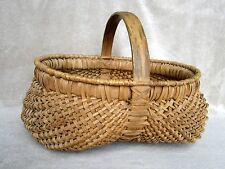 Antique Split Oak Buttock Basket Egg Gathering Appalachia Appalachian Folk Art