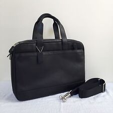 NWT COACH HUDSON COMMUTER LEATHER DOUBLE-ZIP CROSSBODY SHOULDER BAG F71701 BLACK